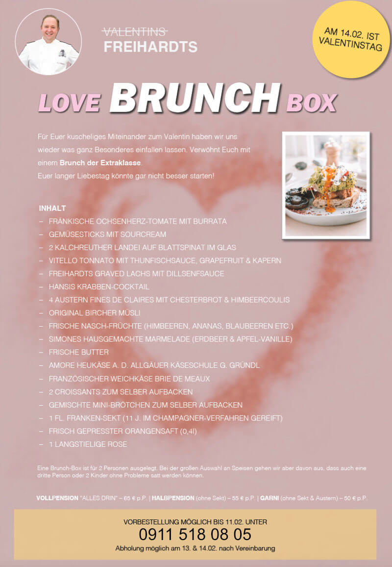 Valentins Brunch Box